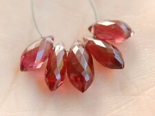 Natural Red Rhodolite Garnet Faceted Chandelier Briolette Gemstone Beads
