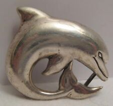 Beautiful Old Sterling Silver Dolphin Pendant Kabana 925 Porpoise Very Unusual!
