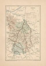 C9084 France - VIENNE - Cartina geografica antica - 1892 antique map