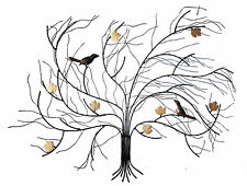 Windswept AUTUMN TREE Metal Wall Art  Suitable for Indoor and Outdoor Use 75 cm