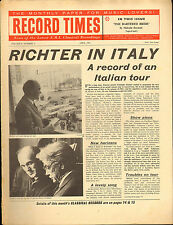 RECORD TIMES NEWSPAPER 1963 04 APRIL richter/beecham/charles rosen/poulenc/ravel