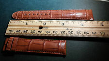 Montblanc alligator watch band 19/17mm, LIGHT BROWN / TAN, regular, padded SWISS