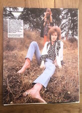 ERIC CLAPTON Hendrix haircut magazine PHOTO/Poster/clipping 12x10 inches