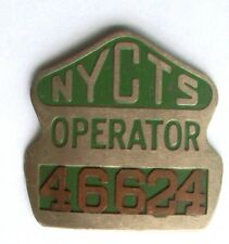 1950s NYCTS Vintage New York Painted Bus Driver Operator Employee Badge #46624