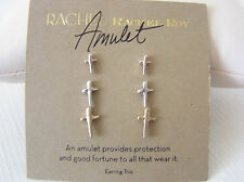 RACHEL Rachel Roy Tri-Tone Amulet Cross Stud Set of 3 Earrings
