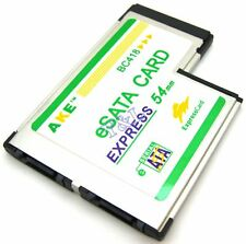 2 Port Hidden eSATA SATA II to Express Card Expresscard 54 Adapter Converter