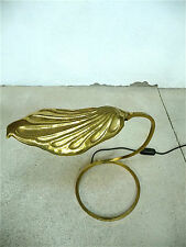 Tommaso barbi Brass Table lamp Golden Leaf mesa lámpara mid-century 60er 60s