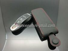 Leather Key caseIN BlacK AND red stitch  for Porsche BOXSTER MACAN 981 Panamera