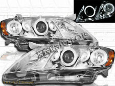 2007-2009 TOYOTA CAMRY PROJECTOR HEADLIGHTS CCFL HALO CHROME HOUSING CLEAR LENS