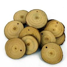 Real Wooden Slice Beads , ideal for a backdrop for a pendant Pack of 10