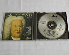 J..E. DAHLER / BACH Musical offering BWV 1079 SWITZERLAND CD CLAVES 50-198(1991)
