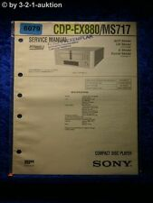 Sony Service Manual CDP EX880 /MS717 CD Player (#6079)