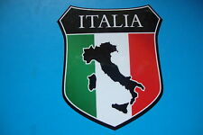 2 QUALITY  ITALY ITALIA SHIELDS  CAR WINDOW BUMPER STICKERS MOTORBIKE HELMET