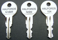Halfords Roof Box / Roof Bars Keys To Code / by Number