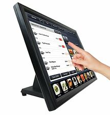 "Used - 19"" Touch Screen POS LCD TouchScreen Monitor Bar Restaurant Retail Kiosk"