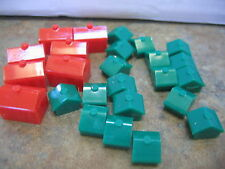 MONOPOLY Replacement Parts  18 GREEN  HOUSES   7 RED HOTELS
