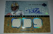 DREW BREES 2007 UPPER DECK PREMIER REMNANTS PATCH AUTO #'D 09/25 = 1/1 JERSEY #