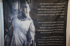 ARNOLD SCHWARZENEGGER Motivational Quotes Poster Banner Flag Gym Man Cave 3x5 Ft