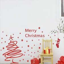 Huhome PVC Wall Stickers Wallpaper Starry Christmas Day ice cream parlor kitchen
