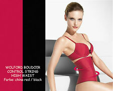 WOLFORD Boudoir Control String High Waist • china red / black • Gr.36 • erotisch