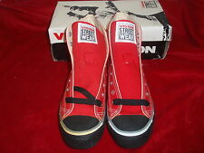 NOS VINTAGE 1986 VISION STREET WEAR SH3 HI-TOP SNEAKERS RED CANVAS 7.5 SK8 BMX