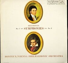 LM-2491 MONTEUX/VPO beethoven symphonies no 1 and 8 usa rca victor LP PS EX/EX