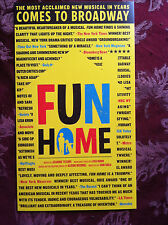 Fun Home ad/flyer Judy Kuhn  Michael Cerveris off Broadway NYC Best Musical 2015