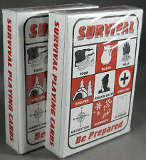 Survival Playing Cards 2 Decks Bushcraft Bug Out Bag Prepper Kit Gear Supplies