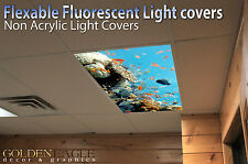 Fluorescent Light Panel Diffuser Reef Film Ceiling Doctor Office Preschool 27