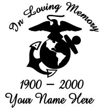 "Military ""In Memory"" You Pick The Branch Vinyl Decal Sticker Car Truck Window"