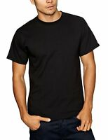 5 PACK FRUIT OF THE LOOM  PLAIN BLACK T SHIRT TEE SHIRT (S TO 4XL) UNISEX BARGAI
