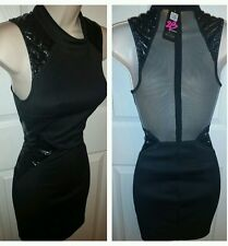 NWT bebe kara mock stud mesh back dress SZ  M  Hot stuff! What a fashionista