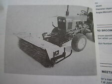 JOHN DEERE 650 & 750 LAWN TRACTOR 246 ROTARY BROOM OPERATORS MANUAL