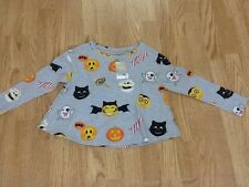 Girls Next Size 6 Years Grey Halloween Top - Brand New With Tags On