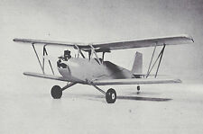 Vintage Hobo Biplane Sport Airplane Plans, Templates and Instructions