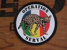 """Patch / écusson PVC """" OPERATION SERVAL """" - MALI Afrique Guerre OPEX tap Légion"""
