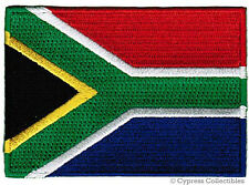 SOUTH AFRICA REPUBLIC FLAG PATCH - EMBROIDERED IRON-ON applique NATIONAL EMBLEM
