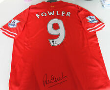 LIVERPOOL - ROBBIE FOWLER HAND SIGNED JERSEY UNFRAMED + PHOTO PROOF & C.O.A