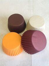 Otoño Mix papel de alta calidad Muffin Cup Cake casos-Marfil Borgoña marrón Naranja