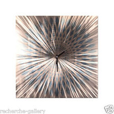 Metal Wall Art Clock Flower II Abstract Modern Contemporary Home Decor Ash Carl