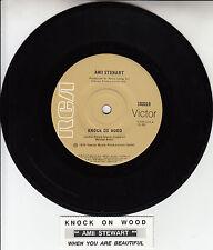 "AMII STEWART  Knock On Wood  7"" 45 rpm vinyl record + juke box title strip"
