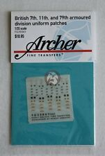 Archer 1/35 British 7th, 11th and 79th Armoured Division Uniform Patches FG35041