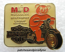 Harley Davidson Muscular Dystrophy Pin New! FREE U.K. P&P!