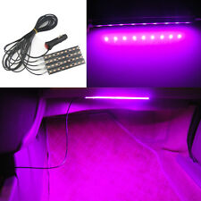 Car Interior Charge Purple Pink Waterproof 9LED Floor Decorative Atmosphere Lamp