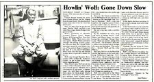 SL20/2/76p9 Article & Picture : Howlin' wolf- gone down slow