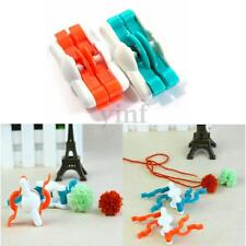 2pcs Small Size Pompom Maker Fluff Ball Bobble Weaver Needle DIY Craft Wool Tool