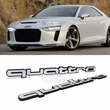 Audi   Side-Front-Trunk--Emblem-Quattro-Logo-Badge--2p-