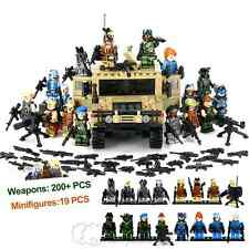 New Minifigures Lot Military Army Hummer Car Weapons Building Blocks Collection
