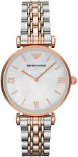 Imported EMPORIO ARMANI AR1683 LADIES TWO TONE GIANNI TBAR WATCH 2 YEAR WARRANTY