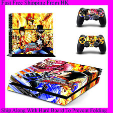 One Piece Burning Blood Decal Stickers Sony PS4 Concole + 2 Controllers GYTM0424
